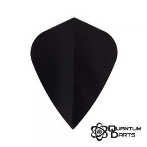 Plain Black Dart Flights – 100 Micron Kite