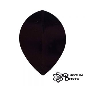 Plain Black Dart Flights – 100 Micron Pear