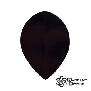 Plain Black Dart Flights – 100 Micron Pear