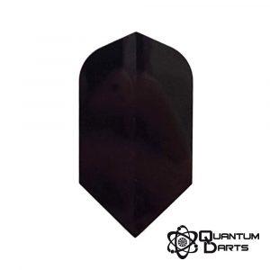 100 Micron Plain Black Dart Flights – Slim Shape