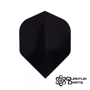 Plain Black Dart Flights – 100 Micron Standard