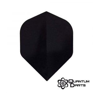 Plain Black Dart Flights – 100 Micron Standard