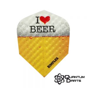 Dimplex I Love Beer Dart Flights – 75 Micron Standard
