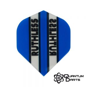 Ruthless Blue Stripe Dart Flights – 100 Micron Standard