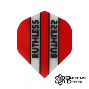 Ruthless Red Stripe Dart Flights – 100 Micron Standard