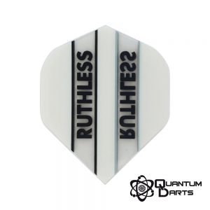 Ruthless White Stripe Dart Flights – 100 Micron Standard