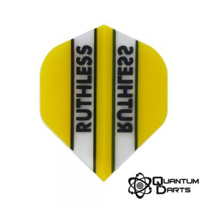 Ruthless Yellow Stripe Dart Flights – 100 Micron Standard