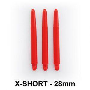 XShort Nylon Dart Shafts – Red